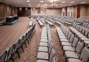 Chairs in rows for a presentation